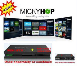 Quad Core Recever IPTV/Ott Set Top Box with Mickhop APP pictures & photos