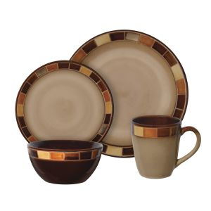 Creative Unique Ceramic Dinnerware Set Mug with Beige and Brown pictures & photos