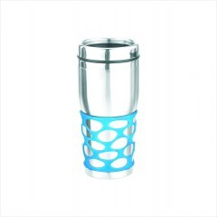 16oz Double Wall Stainless Steel Thermal Mug with Sanding Finish