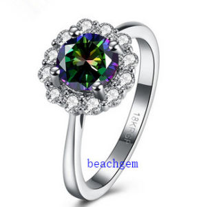Hot Sell Jewelry- Mystic Cubic Zirconia Brass Rings (R0850) pictures & photos