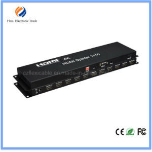 4kx2k HDMI1.4 Splitter 1X10 Support Edid and Cec Built-in IR Function pictures & photos