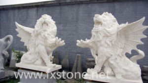 Marble Sculpture Animal Lions pictures & photos