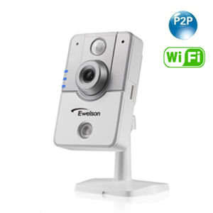 Wireless Plug & Play IR Cube IP Camera with 64GB TF Card Slot (Q4)