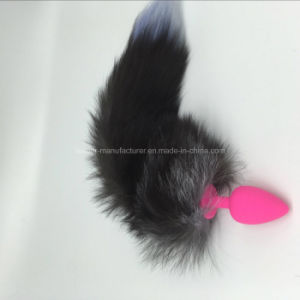 Four Colors Silicone Sex Toys Fox Tail Anal Plug pictures & photos