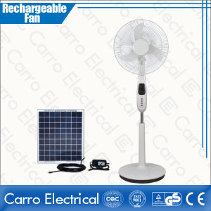 16 Inch 12V 35W All in One Rechargeable Stand Fans DC Solar Fan with Battery