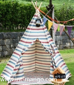 Stripe Fabric Teepee Kids Playing Tent (MW6014) pictures & photos