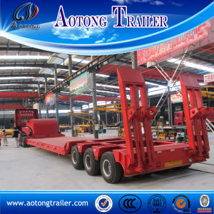 100 Tons Low Loader Trailer for Sale Indonesia pictures & photos