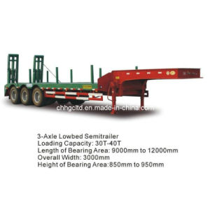 3 Axle 40-70t Heavy Duty Low Bed Trailer pictures & photos