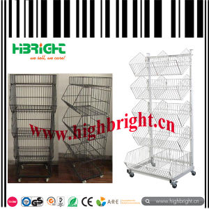 Wire Mesh Stackable Basket Display pictures & photos