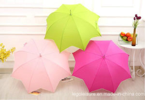 Auto Open Straight Umbrella with Maple Shape (LGUZ14015)