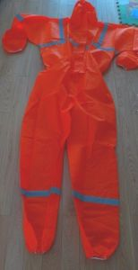 Orange Protective Disposable SMS Coverall
