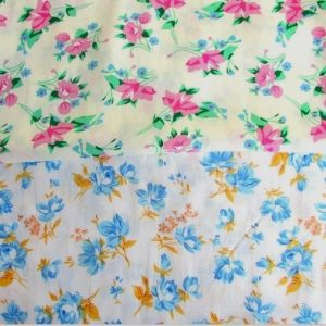 Floral Print Rayon Fabric for Girls Dresses pictures & photos