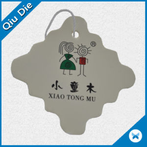 Die Cut Cardboard Paper Clothes Labels for Apparel with Flower Shape pictures & photos
