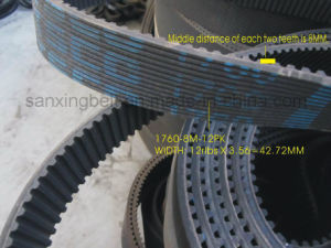 Tsco Brand Special Timing Belt with Poly V Belt on Back Size