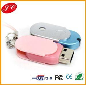 Customized Logo Printing Plastic Swivel USB Flash Drive
