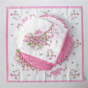 Disposable Party Tableware with Pink Flower Printed pictures & photos