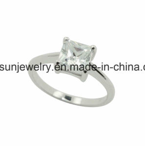 925 Silver AAA Squre Stone Ring for Women pictures & photos