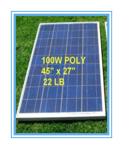 100W Poly Solar Panel Battery for off-Grid Systems (SYFD100-poly)
