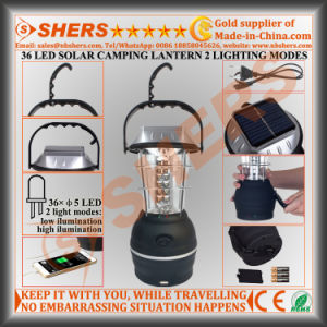 Solar Camping Lantern 36 LED USB Outlet Dynamo Cranking pictures & photos
