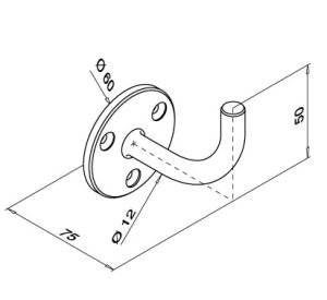 Handrail Bracket for Balcony Railings Systems pictures & photos