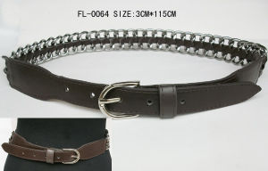 Fashion Belt with Chain (FL-0064)