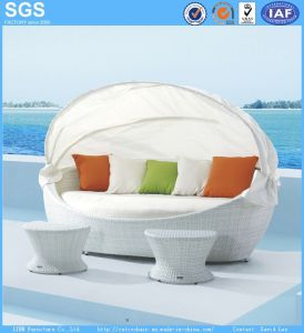 Resort Hotel Leisure Furniture White Rattan Daybed pictures & photos