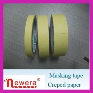 High Quality Creped Masking Adhesive Tape pictures & photos