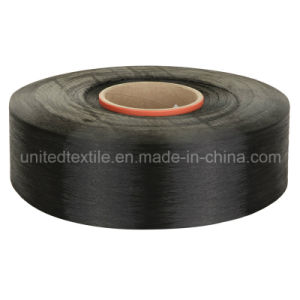Polyester Dope Dyed Black Yarn (300d/96f Semi Dull FDY) pictures & photos