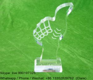 Customized Clear Acrylic Crystal Souvenir Medal Awards pictures & photos