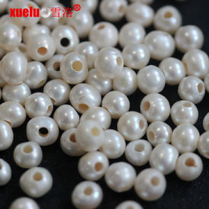 7-8mm Round Big Hole Fresh Water Pearls Beads Farm pictures & photos
