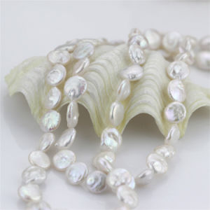 12mm White AA Unique Bridal Pearl Necklace Knot pictures & photos