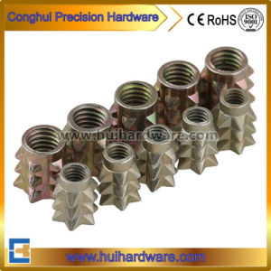 Zinc Alloy Cast Barbed Insert Nuts pictures & photos