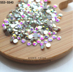 Ss3-Ss40 Crystal Ab Stones Swaro Non Hot Fix Flat Back Rhinestone (FB-ss3-ss40) pictures & photos