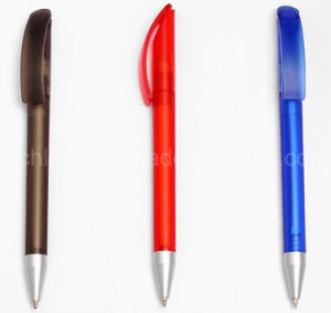Logo Promotional Twist Plastic Ball Point Pen pictures & photos
