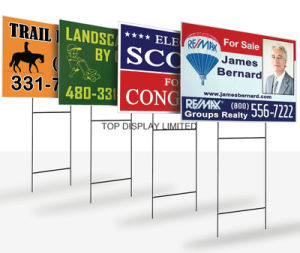 Signs, Banner, Stakes, Holderreal Estate Yard Banner, Custom Printed Yard Signspolitical Yard Sign pictures & photos