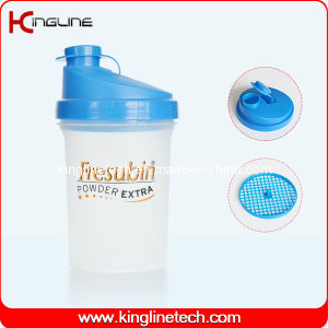 500ml Plastic Protein Shaker Bottle with Filter (KL-7012) pictures & photos