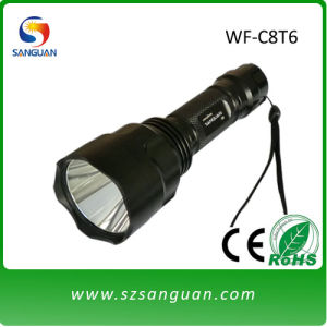 Rechargeable Waterproof CREE LED Flashlight 1000lumne (WF-C8T6)