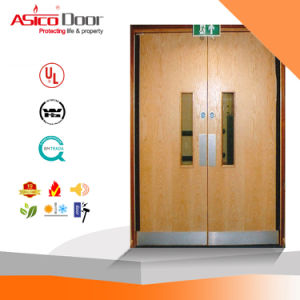 BS 30, 60, 90, 120 Mins Fire Rated Wooden Door for School Hotel Compund Office Building pictures & photos