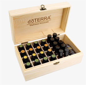 Essential Oils Pine Wooden Box with Compartments From China pictures & photos