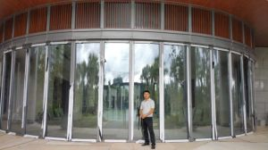 Arc-Shaped Glass Partition Wall pictures & photos