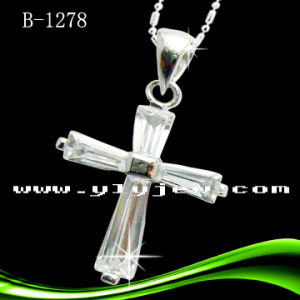 Fashion Cross Pendant with CZ (B-1278) pictures & photos
