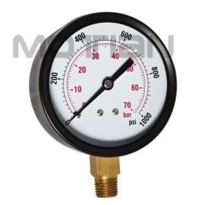 3 Inch Dry Steel Case Glass Surface Pressure Gauge pictures & photos