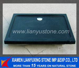Black Marble Stone Shower Base& Tray for Bathroom