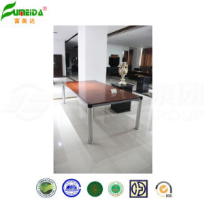 MDF Wood Veneer Metal Frame Confenrence Table pictures & photos