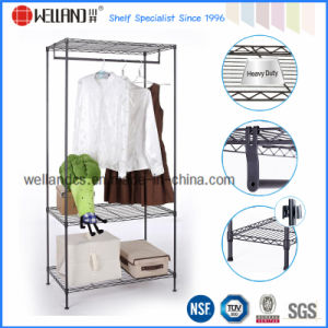 Adjustable Metal Closet Storage Rack Organizer with NSF Approval pictures & photos