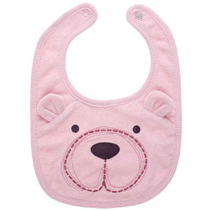 High Quality Cotton Printed Lovely Bear Baby Bibs pictures & photos