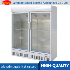 708L Large Double Door Glass Display Refrigerator Showcase pictures & photos