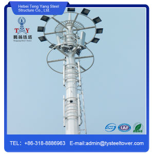 Telecom Galvanized Steel Monopole Tower pictures & photos