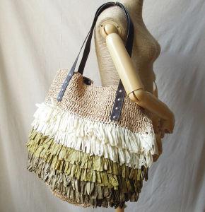 European Stylish Rattan Straw Bag Hand Shoulder Bag