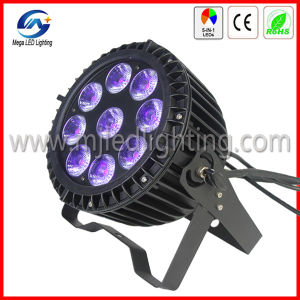 9*15W Slim Outdoor Rgbwauv 6in1 LED PAR Light